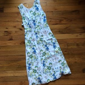 Zara floral open back dress